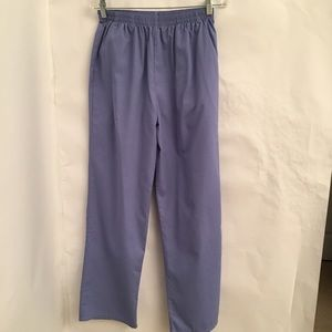 SB Scrubs Pants Size Med Sky Blue side Pockets